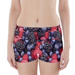 Forest Fruit Boyleg Bikini Wrap Bottoms