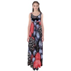 Forest Fruit Empire Waist Maxi Dress