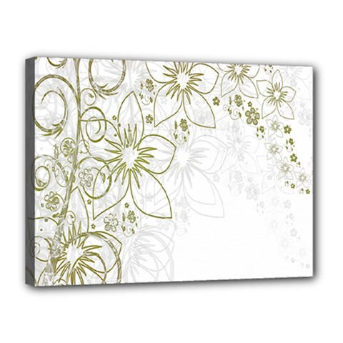 Flowers Background Leaf Leaves Canvas 16  x 12