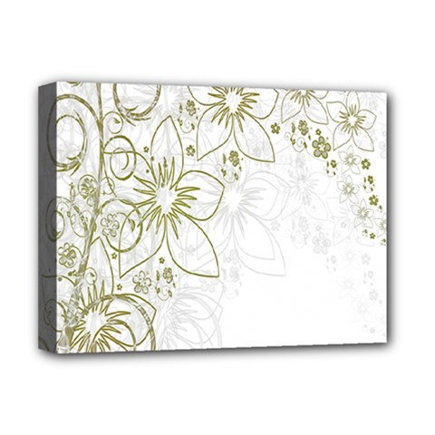 Flowers Background Leaf Leaves Deluxe Canvas 16  x 12