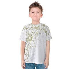 Flowers Background Leaf Leaves Kids  Cotton Tee
