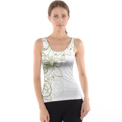 Flowers Background Leaf Leaves Tank Top