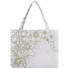 Flowers Background Leaf Leaves Mini Tote Bag