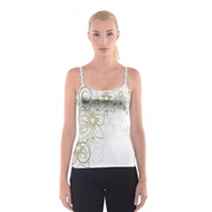 Flowers Background Leaf Leaves Spaghetti Strap Top