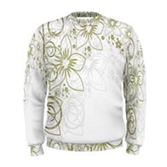 Flowers Background Leaf Leaves Men s Sweatshirt