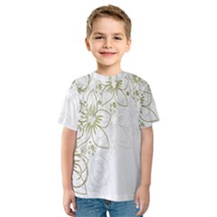 Flowers Background Leaf Leaves Kids  Sport Mesh Tee
