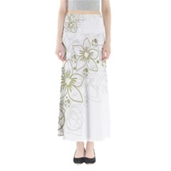 Flowers Background Leaf Leaves Maxi Skirts