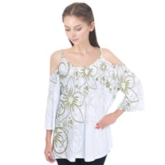 Flowers Background Leaf Leaves Flutter Tees