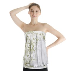 Flowers Background Leaf Leaves Strapless Top