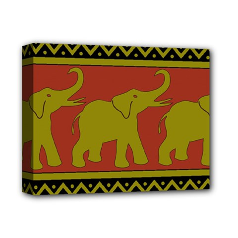 Elephant Pattern Deluxe Canvas 14  x 11