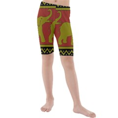 Elephant Pattern Kids  Mid Length Swim Shorts