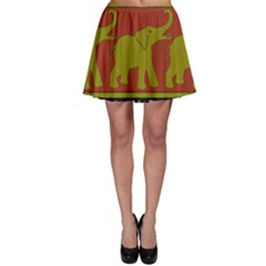 Elephant Pattern Skater Skirt