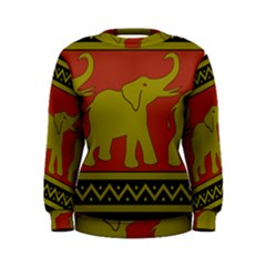 Elephant Pattern Women s Sweatshirt