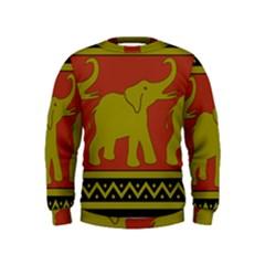 Elephant Pattern Kids  Sweatshirt