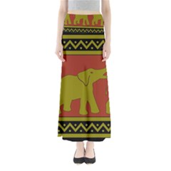 Elephant Pattern Maxi Skirts