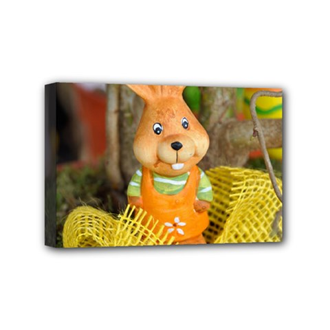 Easter Hare Easter Bunny Mini Canvas 6  X 4