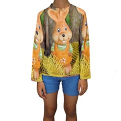 Easter Hare Easter Bunny Kids  Long Sleeve Swimwear