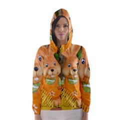 Easter Hare Easter Bunny Hooded Wind Breaker (Women)