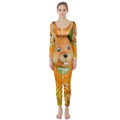 Easter Hare Easter Bunny Long Sleeve Catsuit