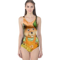Easter Hare Easter Bunny One Piece Swimsuit