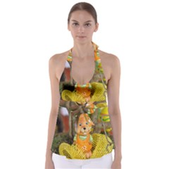 Easter Hare Easter Bunny Babydoll Tankini Top