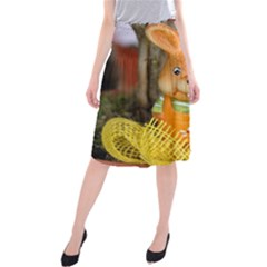 Easter Hare Easter Bunny Midi Beach Skirt