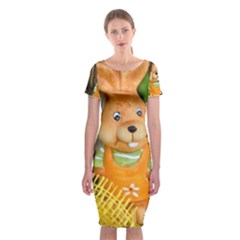 Easter Hare Easter Bunny Classic Short Sleeve Midi Dress
