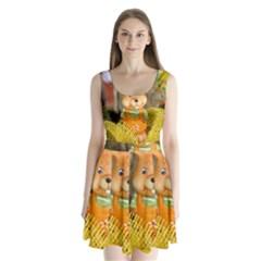 Easter Hare Easter Bunny Split Back Mini Dress