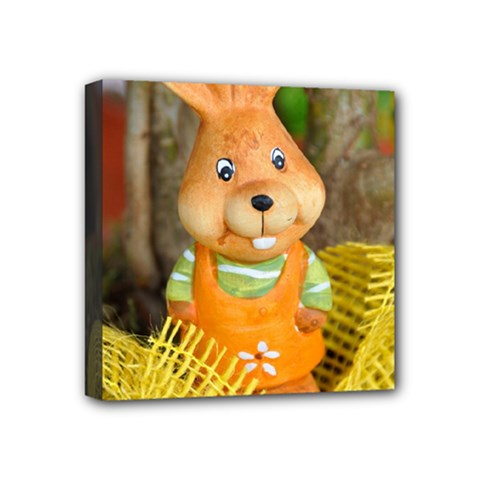 Easter Hare Easter Bunny Mini Canvas 4  x 4