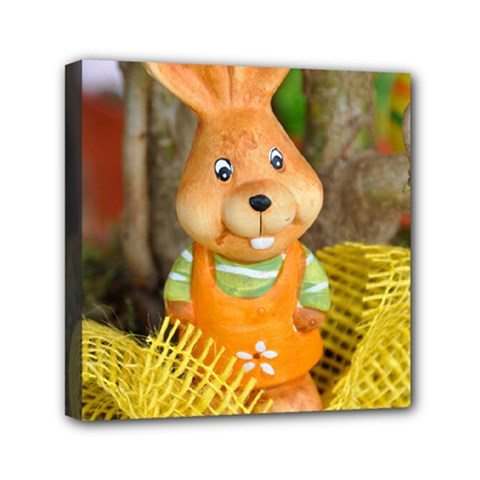 Easter Hare Easter Bunny Mini Canvas 6  x 6