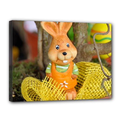 Easter Hare Easter Bunny Canvas 16  X 12