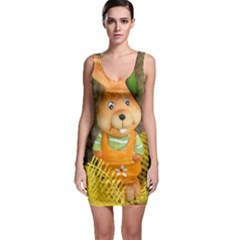 Easter Hare Easter Bunny Sleeveless Bodycon Dress