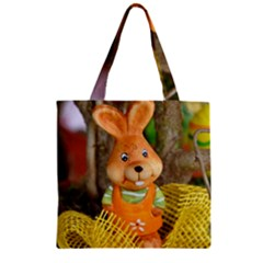 Easter Hare Easter Bunny Zipper Grocery Tote Bag