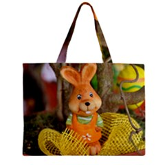 Easter Hare Easter Bunny Zipper Mini Tote Bag