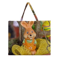 Easter Hare Easter Bunny Zipper Large Tote Bag
