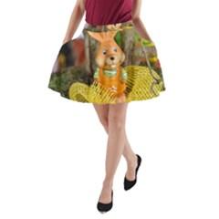 Easter Hare Easter Bunny A-Line Pocket Skirt