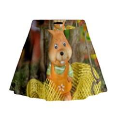 Easter Hare Easter Bunny Mini Flare Skirt