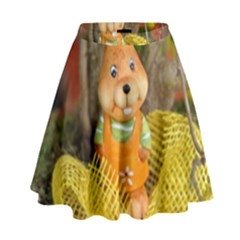 Easter Hare Easter Bunny High Waist Skirt
