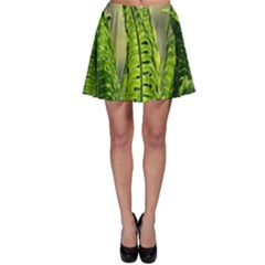 Fern Ferns Green Nature Foliage Skater Skirt