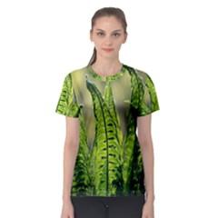 Fern Ferns Green Nature Foliage Women s Sport Mesh Tee