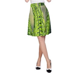 Fern Ferns Green Nature Foliage A-Line Skirt