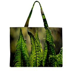 Fern Ferns Green Nature Foliage Zipper Mini Tote Bag