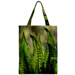 Fern Ferns Green Nature Foliage Zipper Classic Tote Bag