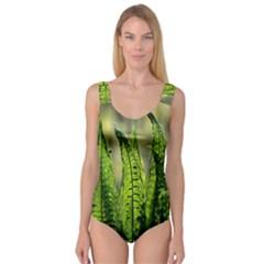Fern Ferns Green Nature Foliage Princess Tank Leotard