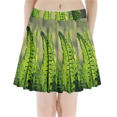 Fern Ferns Green Nature Foliage Pleated Mini Skirt