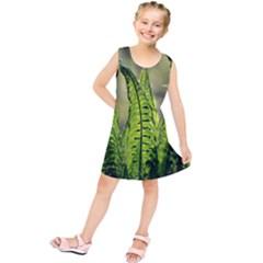 Fern Ferns Green Nature Foliage Kids  Tunic Dress