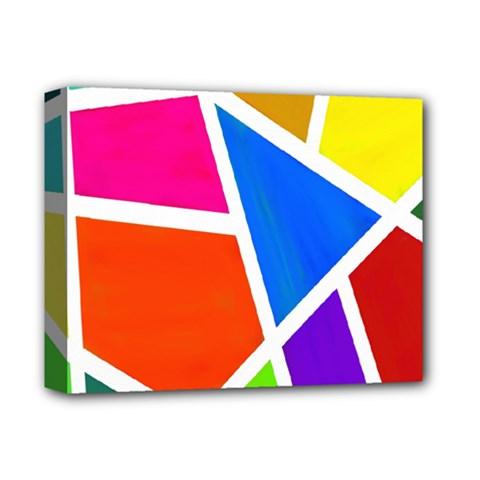 Geometric Blocks Deluxe Canvas 14  x 11