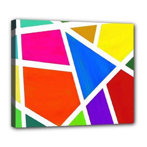 Geometric Blocks Deluxe Canvas 24  x 20