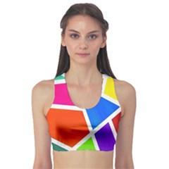 Geometric Blocks Sports Bra