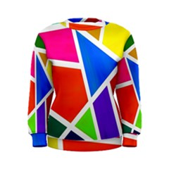 Geometric Blocks Women s Sweatshirt